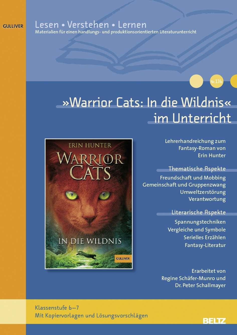 """""""Warrior Cats: In die Wildnis"""" im Unterricht"""